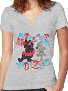 Heffalumps and Woozles Women's Fitted V-Neck T-Shirt