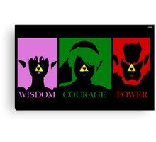 Zelda-Triforce of power  Canvas Print