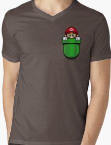 Pocket Plumber Mens V-Neck T-Shirt