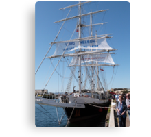 Aonther look at the 'Lord Nelson' Tall Ships Festival Port. Adelaide. Canvas Print