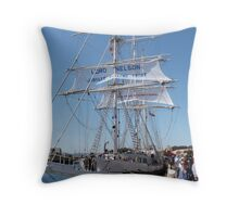 Aonther look at the 'Lord Nelson' Tall Ships Festival Port. Adelaide. Throw Pillow