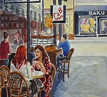 Coffee break Block Place by Virginia  Coghill