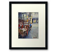 Coffee break Block Place Framed Print