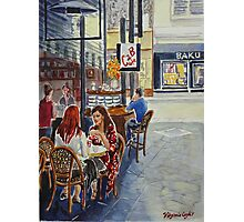 Coffee break Block Place Photographic Print