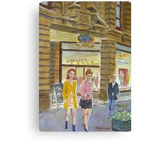 Young women at Block Arcade Canvas Print
