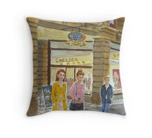 Young women at Block Arcade Throw Pillow