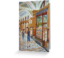 Hopetoun Tea Rooms, Block Arcade, Melbourne Greeting Card