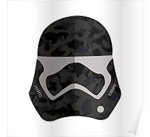 Camo Clone Wars Trooper Helmet Poster