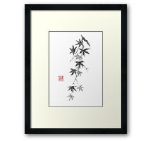 Star rain sumi-e painting Framed Print