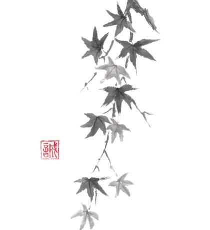 Star rain sumi-e painting Sticker