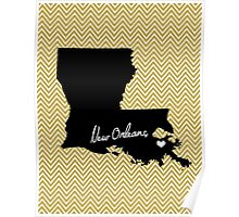Home & Office Decor: New Orleans, Louisiana Print - Saints, Black and Gold Poster