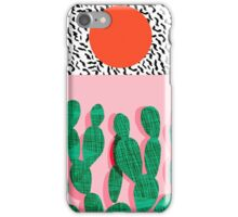 Spazz - throwback memphis 1980s style retro vintage texture illustration decor design style hipster iPhone Case/Skin