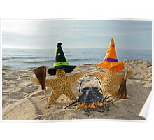 Halloween Beach Party Poster