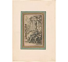 Hubert François Gravelot  Design for a Title Page to a Book of Poetry Photographic Print