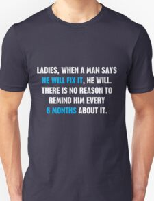 Ladies, When A Man Says T-Shirt