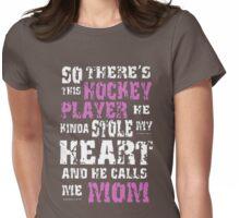 Hockey mom Shirt Womens Fitted T-Shirt