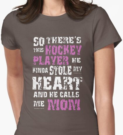 Hockey mom Shirt Womens Fitted T-Shirt