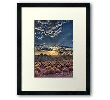 Mount Isa Sunset 1 Framed Print