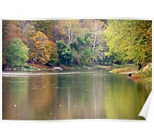 Fall Along The Allegheny River Poster