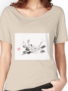 White queen sumi-e painting Women's Relaxed Fit T-Shirt