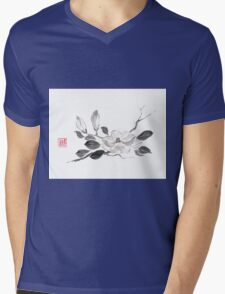 White queen sumi-e painting Mens V-Neck T-Shirt