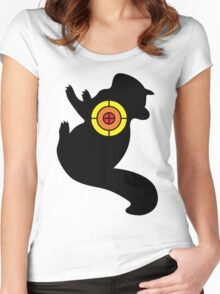 Chipmunk Target Women's Fitted Scoop T-Shirt