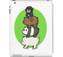we bare bears- bearstack and chloe iPad Case/Skin