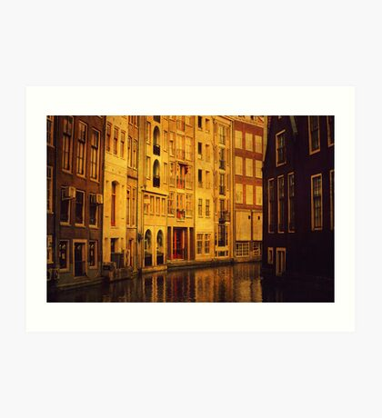 Golden Amsterdam Art Print