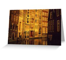 Golden Amsterdam Greeting Card