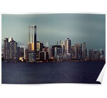 Miami Skyline at Sunset Poster