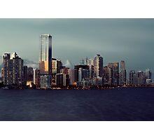 Miami Skyline at Sunset Photographic Print