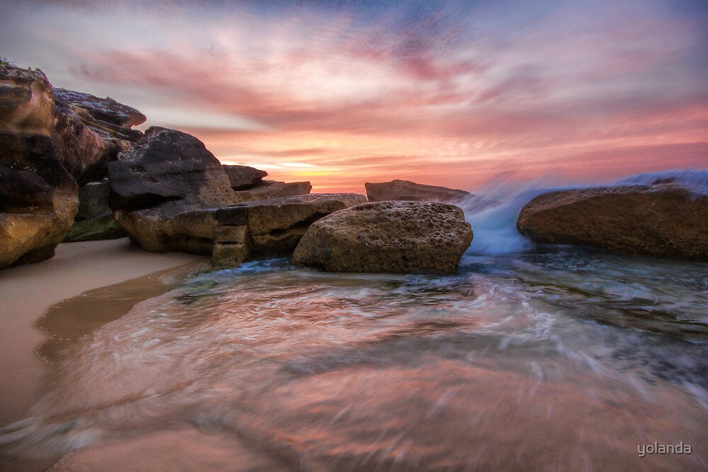 Tamarama Rocky Sunrise by yolanda