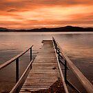 Sunset jetty  by Robert-Todd
