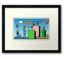 Retro childhood mashup Framed Print