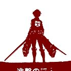 Attack on Titan for Iphone case with characters(bottom)(Red Tee) by PT Chen