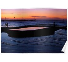 Tidal Pool at Dusk Poster