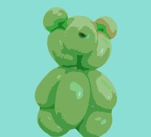 Green bear by Stefania Patella