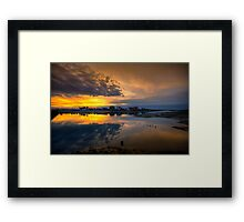 Ilha da Faro Sunset Framed Print