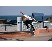 Backside Kickflip - Empire Park Skate Park Photographic Print
