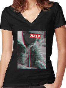 W.I.Z.A.N.G Women's Fitted V-Neck T-Shirt
