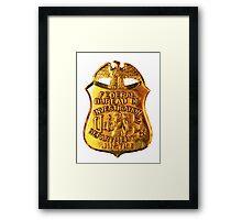 FBI badge Framed Print