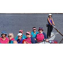 Dragonboating Hats Photographic Print