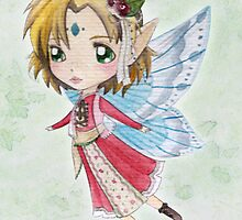 Watercolour Fairy by Katie Corrigan