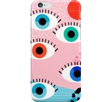 Noob - eyes memphis retro throwback 1980s 80s style neon art print pop art retro vintage minimal iPhone Case/Skin