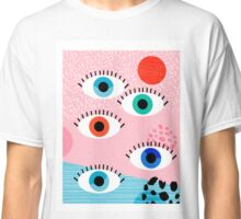 Noob - eyes memphis retro throwback 1980s 80s style neon art print pop art retro vintage minimal Classic T-Shirt