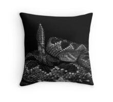Diamonds in the Rough -  western diamondback rattlesnake Throw Pillow