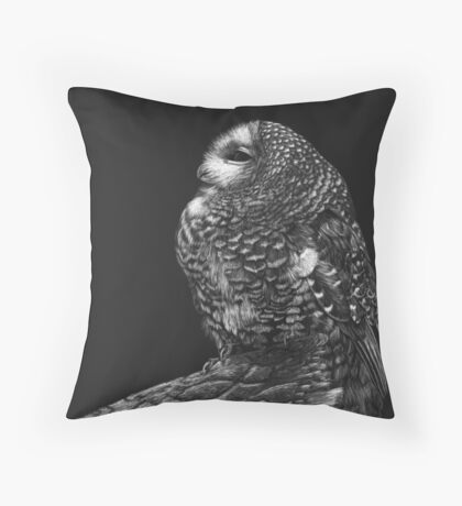 Interrupted Nap - Mexican spotted owl Throw Pillow