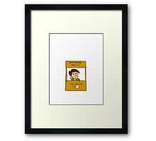 the doctor is in, doctor who peanuts cross over Framed Print