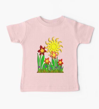 Fanciful Flowers Baby Tee