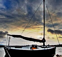 Sailboat silouette by moonfruit